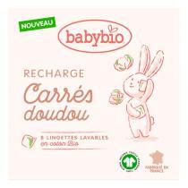 Babybio - Recharge Carrés Doudou - 8 lingettes