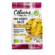 Céliane - Crackers au parmesan et au poivre 100g
