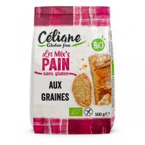 Céliane - Mix pain aux graines sans gluten 500g