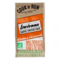 Cook N'Run - Barre énergétique Lucienne multifruits courge goji 50g