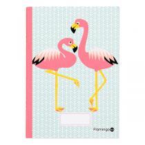 Coq En Pâte - Cahier d'écriture et dessin A5 Flamingo 48p