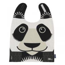 Coq En Pâte - Grande serviette repas à velcro coton bio Panda - Dès 2 ans