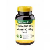 Nature's Plus - Vitamine D3 naturelle 1000UI + K2 - 90 comprimés