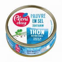 Pléniday - Thon au naturel pauvre en sel 90g