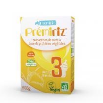Prémibio - Lot de 3 Premiriz croissance 12 à 36 mois - 600g