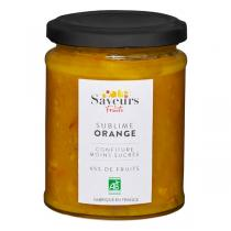 Saveurs & Fruits - Confiture d'orange moins sucrée 65% de fruits 310g