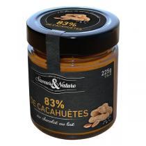 Saveurs & Nature - Pâte à tartiner cacahuètes chocolat au lait fleur de sel 225g