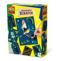 SES Creative - Cartes holographiques à gratter insectes - Dès 3 ans