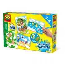 SES Creative - Coloriage à l'eau avec animaux cachés - Dès 12 mois