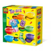 SES Creative - Kit de 6 peintures pour textile tie-dye - Dès 5 ans