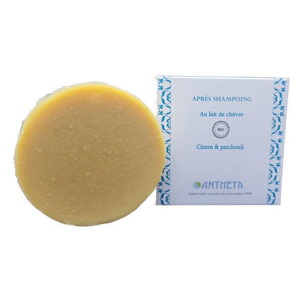 Antheya - Après-shampoing solide lait de chèvre citron et patchouli 90g