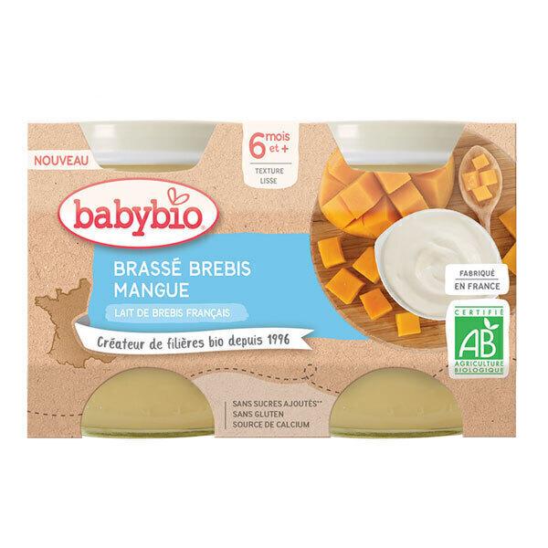 Babybio - Brassé au lait de brebis mangue dès 6 mois 2x130g