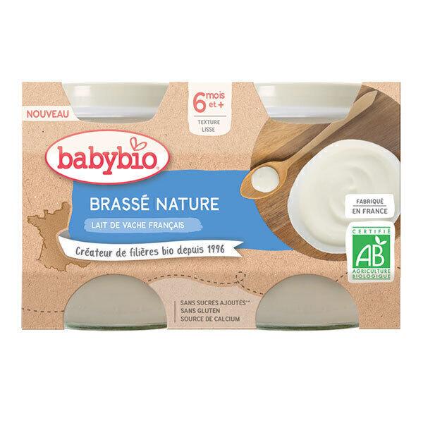 Babybio - Brassé nature dès 6 mois 2 x 130g