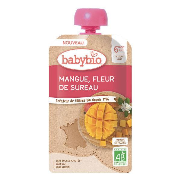 Babybio - Gourde mangue fleur de sureau dès 6 mois 120g