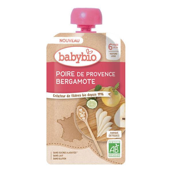Babybio - Gourde poire de Provence bergamote dès 6 mois 120g