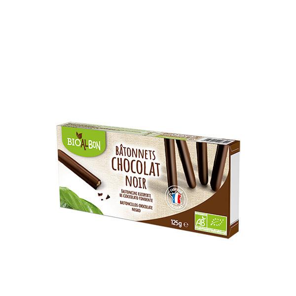 Bioalbon - Bâtonnets chocolat noir 125g