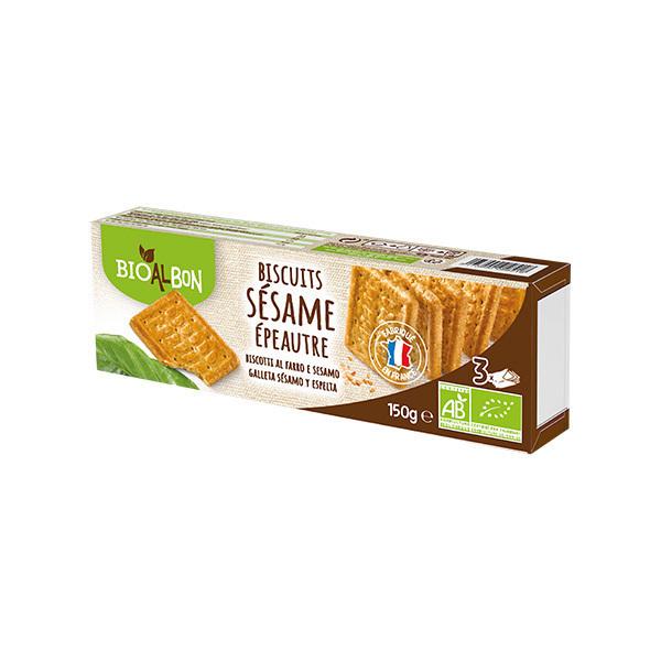 Bioalbon - Biscuits épeautre et graines de sésame 150g