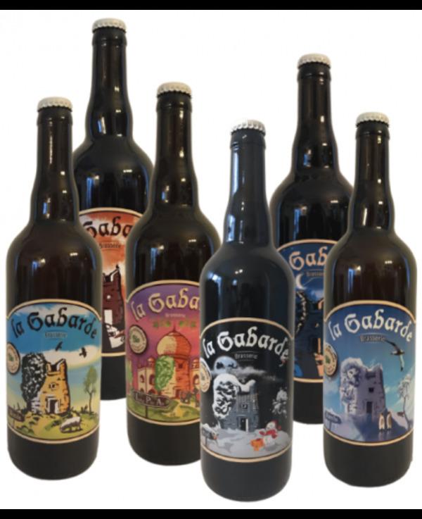 Vinaccus - Kit mixte bière BIO, LA GABARDE 6 x 75cl - de 4 à 7% vol