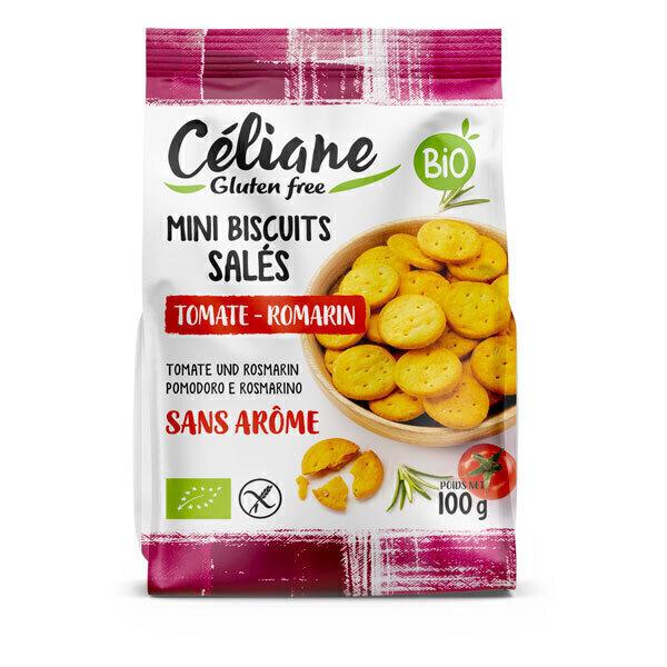 Céliane - Crackers à la tomate et au romarin 100g