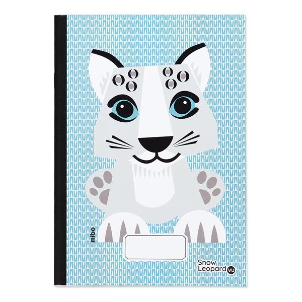 Coq En Pâte - Cahier d'écriture et dessin A5 Léopard des neiges 48p