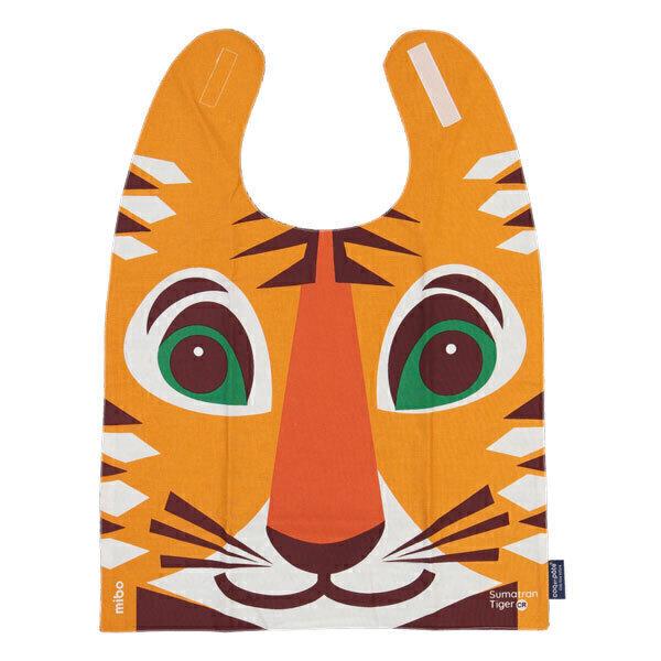 Coq En Pâte - Grande serviette repas à velcro coton bio Tigre - Dès 2 ans