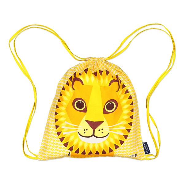 Coq En Pâte - Sac à coulisse coton bio Lion jaune