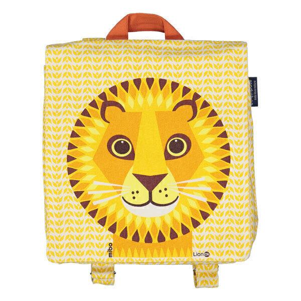 Coq En Pâte - Sac à dos coton bio Lion jaune 23cm