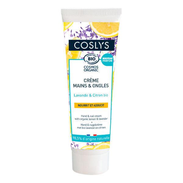 Coslys - Crème mains et ongles lavande et citron 50ml