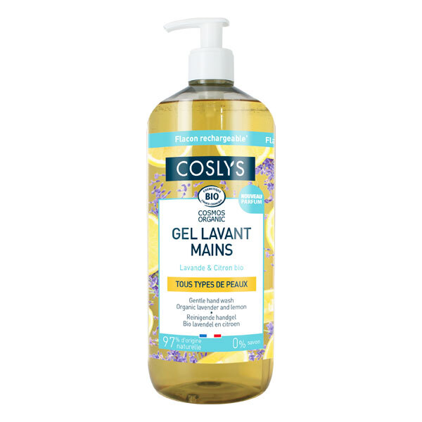Coslys - Gel lavant mains lavande et citron 1L