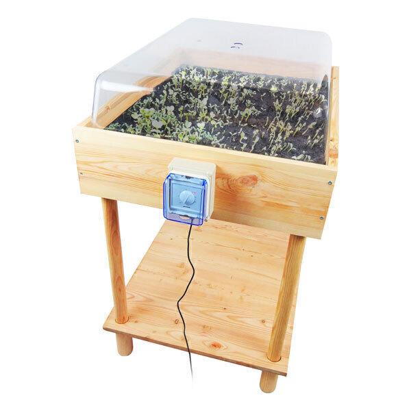 Easy Jardin - Germinateur table de semis chauffante 50L
