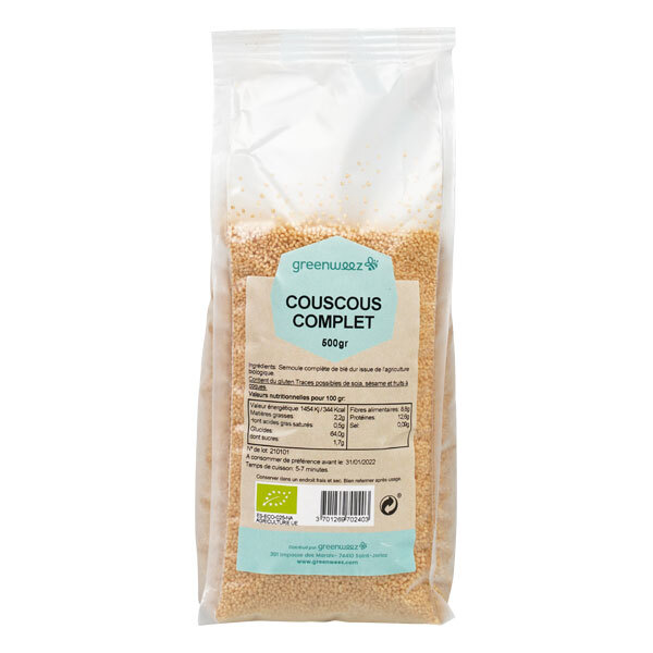 Greenweez - Couscous complet bio 500g