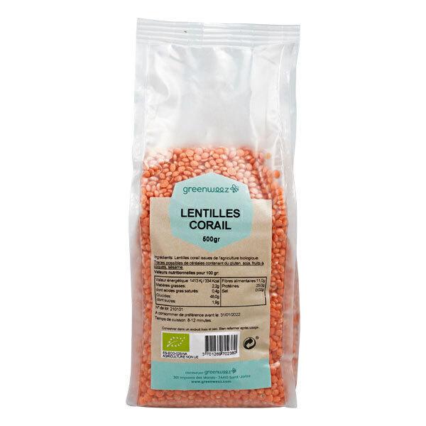 Greenweez - Lentilles corail bio 500g
