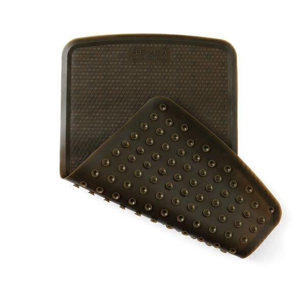 Hévéa - Tapis de bain caoutchouc naturel 55x32 cm - Charcoal