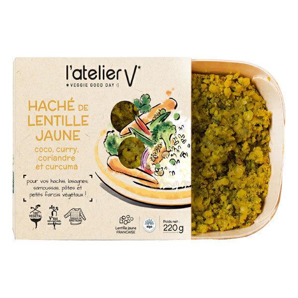L'atelier V - Haché végétal de lentille jaune curry coco 220g