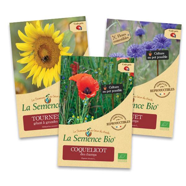 La Semence Bio - Lot de 3 sachets de Graines de fleurs