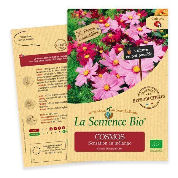 La Semence Bio - Graines de Cosmos Sensation en mélange