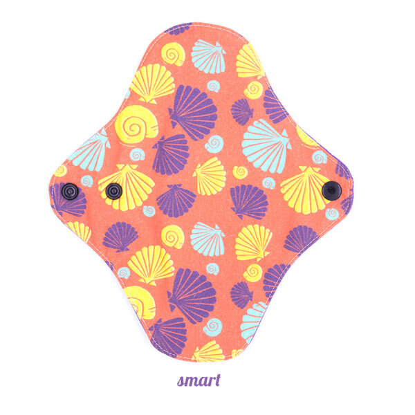 Lamazuna - Protège slip SMART Coquillages adapté à tous les slips