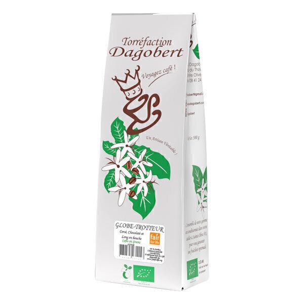 Les cafés Dagobert - Café grain mélange Globe-Trotteur purs arabicas 500g