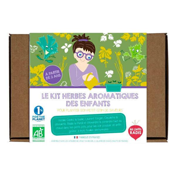 Les Petits Radis - Kit herbes aromatiques bio à semer - Dès 3 ans