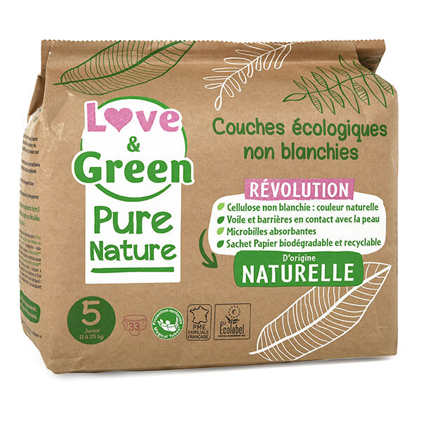 Love & Green - 33 Couches Pure Nature - T5, 11-25 kg