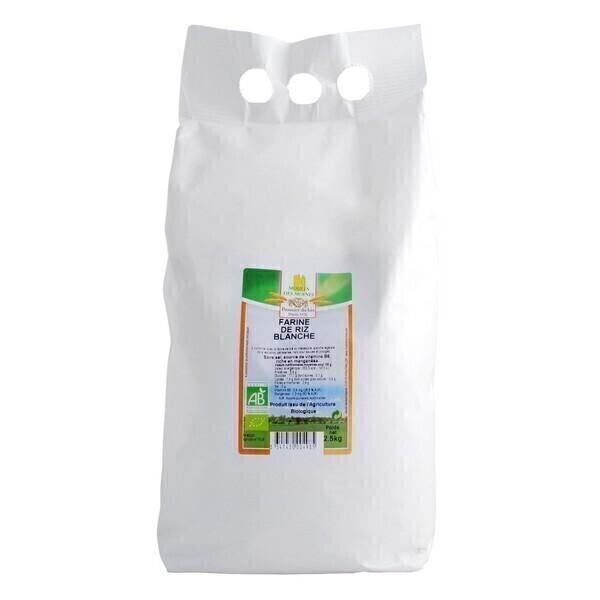 Moulin des Moines - Farine de riz blanche 2,5kg