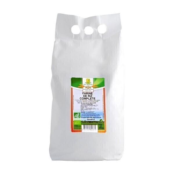 Moulin des Moines - Farine de riz complète 2,5kg