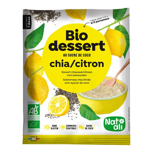 Natali - Crème dessert chia-citron 60g