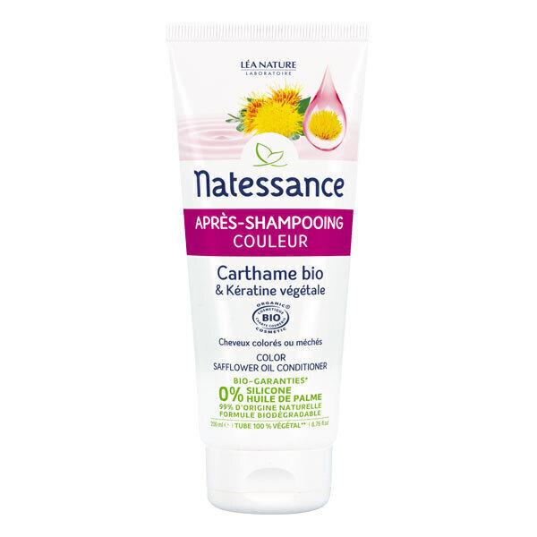Natessance - Après-shampoing cheveux colorés Carthame 200ml