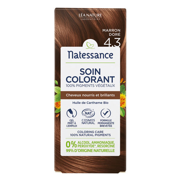 Natessance - Coloration végétale Marron Doré 150ml