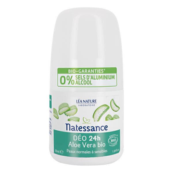 Natessance - Déodorant roll-on aloe vera 50ml
