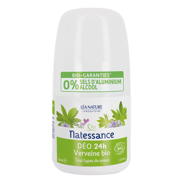Natessance - Déodorant roll-on verveine 50ml