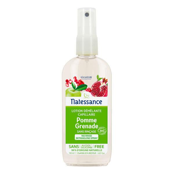 Natessance - Lotion démêlante capillaire Pomme Grenade 150ml