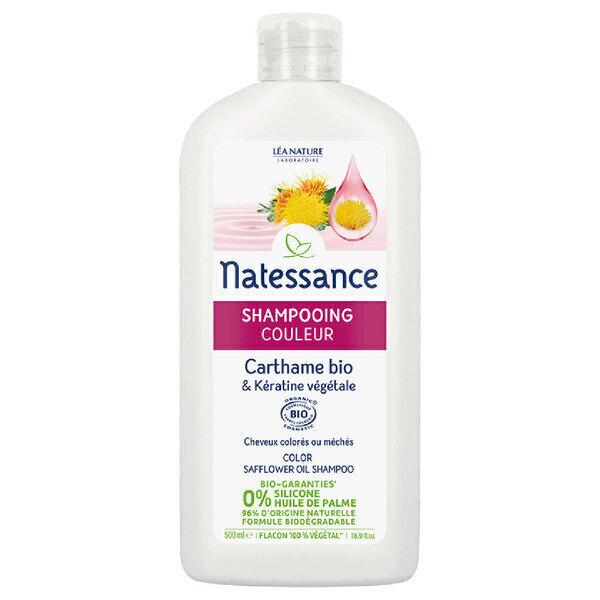 Natessance - Shampoing cheveux colorés Carthame 500ml