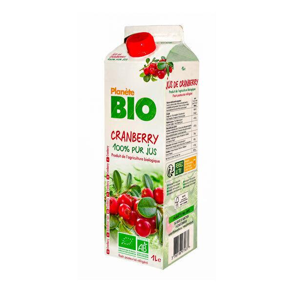 Planète Bio - Jus de cranberry Bio 1L